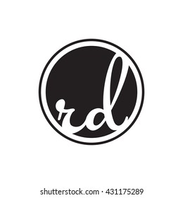 initial letter logo circle with ring