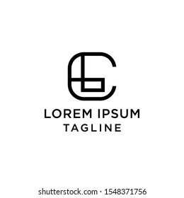 initial letter logo CL, LC logo template
