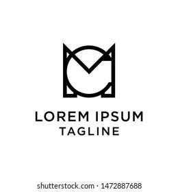 initial letter logo CM, MC logo template