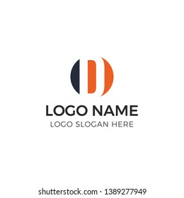 Initial letter logo concept with negative space logo style. 100% Full Vector, EPS 10, CMYK. Thanks for download :).