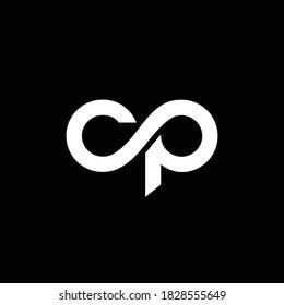 initial letter logo CP, PC, template logo design vector