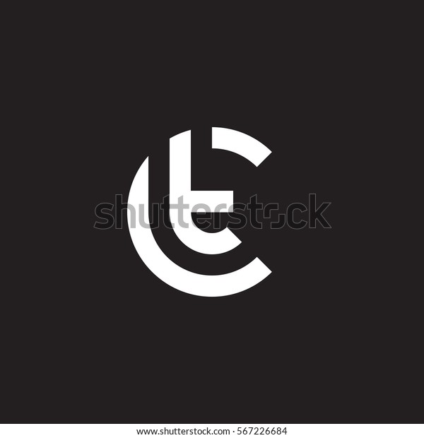 Abstract Letter Inside Circle Logo: Initial Letter Logo Ct Tc T Stock Vector (Royalty Free