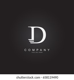 Initial Letter Logo D with wing Template Design Vector  . Alphabet Logo .