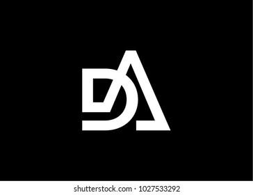 initial letter logo DA
