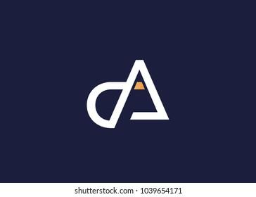 initial letter logo da, ad, logo template