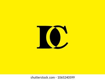 initial letter logo DC, CD, logo template