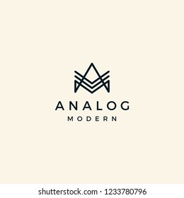 Initial Letter AM logo design inspiration with modern line art style