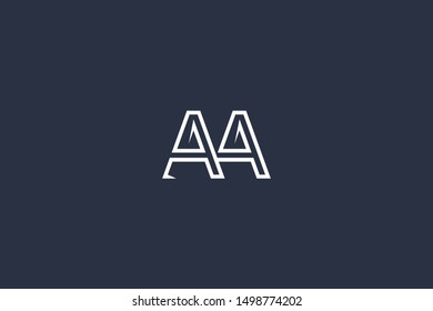 Initial A Letter Logo Design Vector Template. Monogram and Creative Alphabet AA Letters icon Illustration.