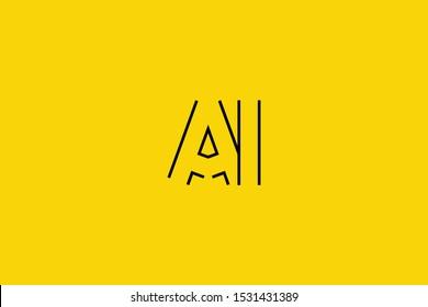 Initial A I Letter Logo Design Vector Template. Monogram and Creative Alphabet AI IA Letters icon Illustration.
