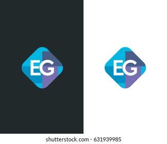 Initial Letter Logo EG design vector