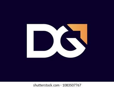 initial letter logo DG, GD, logo template