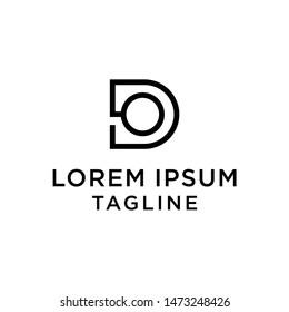 initial letter logo DO, OD logo template