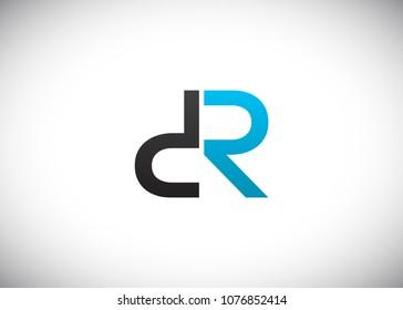 initial letter logo DR, RD, logo template