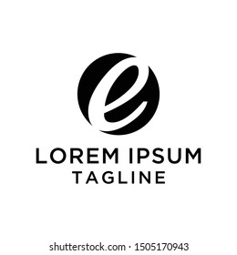 Initial Letter Logo E Negative Space, Logo Template