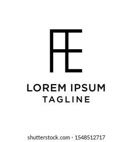 initial letter logo EA, AE logo template