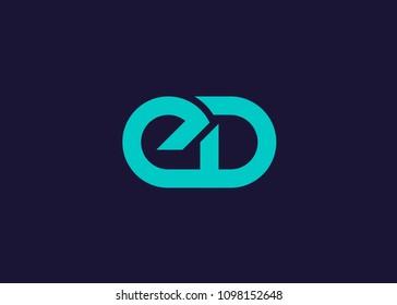initial letter logo ED, logo template