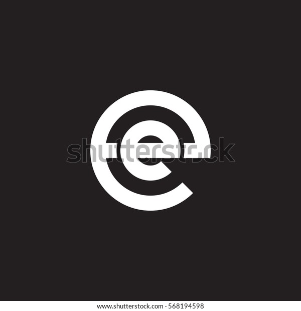 Abstract Letter Inside Circle Logo: Initial Letter Logo Ee E Inside Stock Vector (Royalty Free