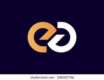 initial letter logo EG, GE, logo template