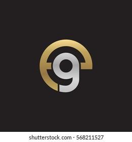 initial letter logo eg, ge, g inside e rounded lowercase logo gold silver