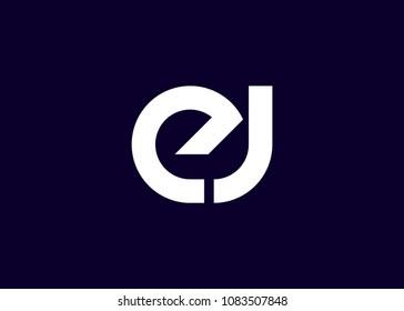 initial letter logo EJ, JE, logo template