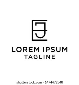 initial letter logo EJ, JE logo template