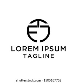 initial letter logo EJ,JE, logo template