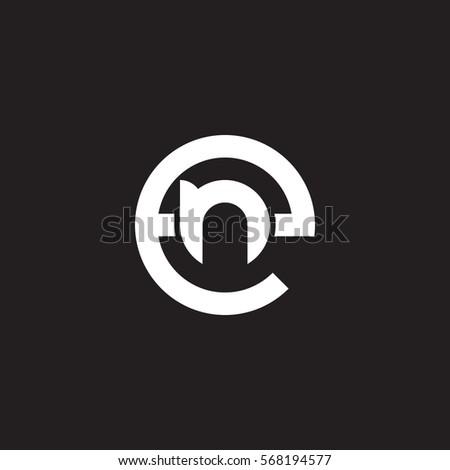 bfb42b749 Vetor stock de Initial Letter Logo En Ne N (livre de direitos ...