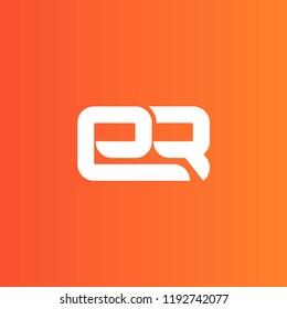 initial letter logo ER, logo template