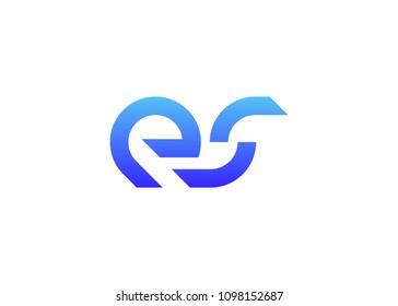initial letter logo ES, logo template