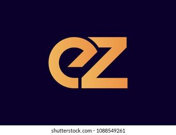 initial letter logo EZ, ZE, logo template