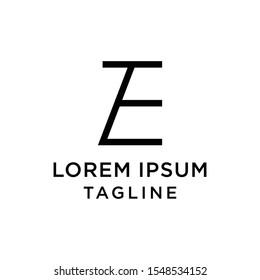 initial letter logo EZ, ZE logo template