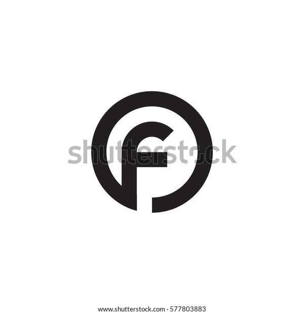 Abstract Letter Inside Circle Logo: Initial Letter Logo F Inside Circle Stock Vector (Royalty