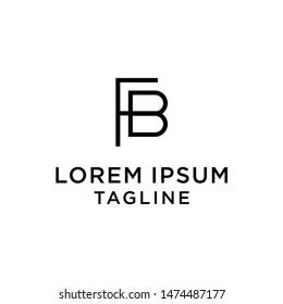 initial letter logo FB, BF, logo template