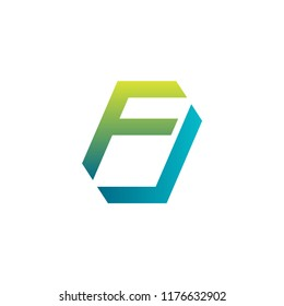Initial letter logo FJ, logo template