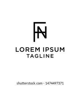 initial letter logo FN, NF, logo template
