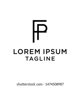 initial letter logo FP, PF, logo template