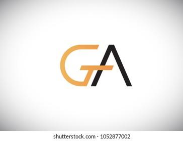 initial letter logo ga, ag, logo template