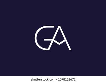 initial letter logo GA, logo template