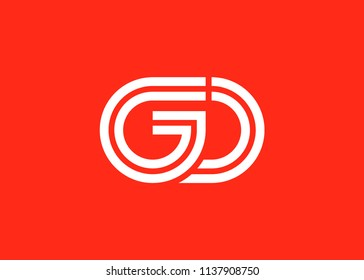 Initial letter logo GD, logo template