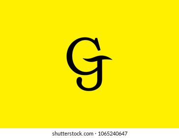 initial letter logo GJ, JG, logo template