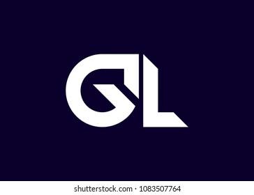 initial letter logo GL, LE, logo template