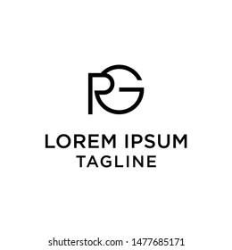 initial letter logo GR, RG, logo template