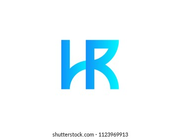 initial letter logo HR, logo template