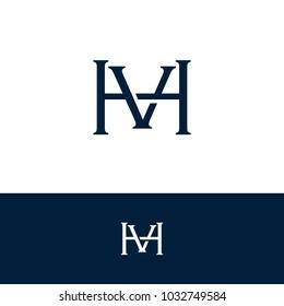 initial letter logo HV