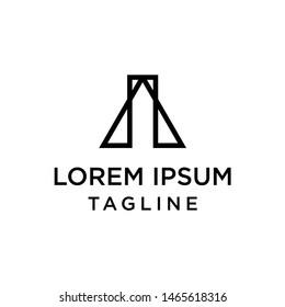 initial letter logo IA, AI logo template