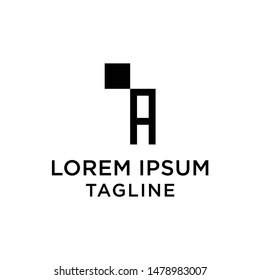 initial letter logo IA, AI, logo template