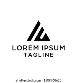 initial letter logo IU, logo template
