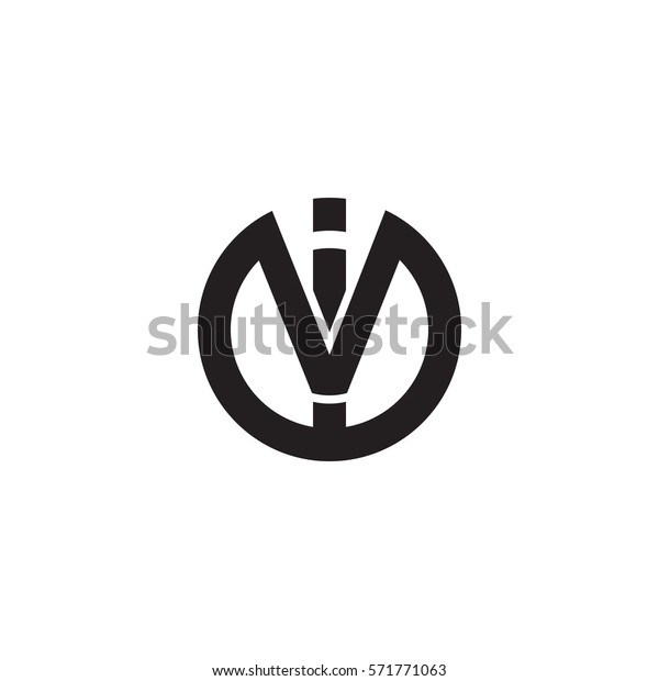 Initial Letter Logo Iv Vi Circle Stock Vector Royalty Free