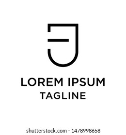 Initial letter logo JE, EJ, logo template
