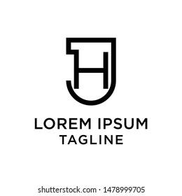 Initial letter logo JH, HJ, logo template